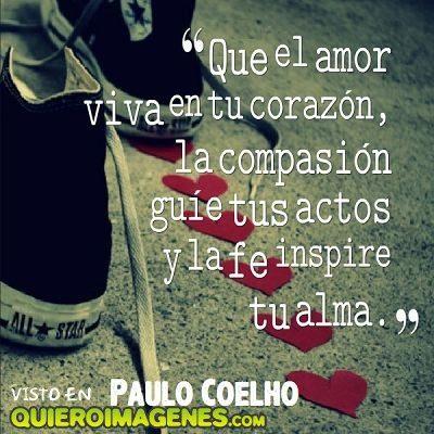 Frase de amor Paulo Coelho imágenes