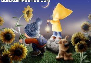 Imagen de gnomos entre flores imágenes