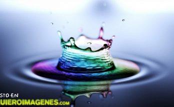 Gota de agua colorida imágenes
