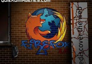 Imagen Firefox en Graffiti imágenes
