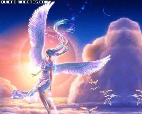 Un ángel sobre las nubes imágenes