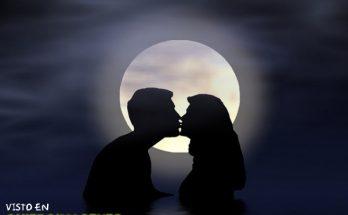 Beso bajo la luna imágenes