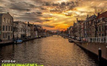 Puesta de sol en Holanda imágenes
