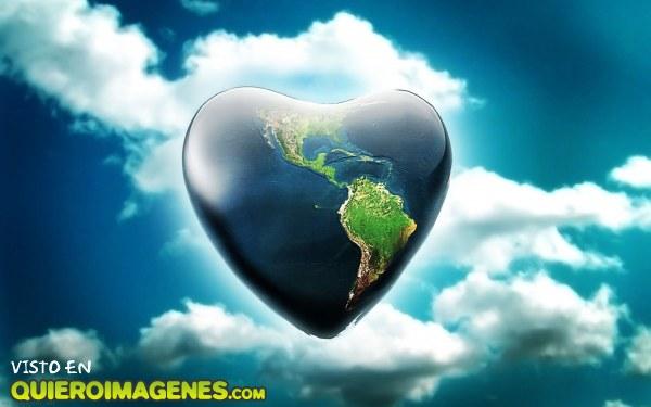 La tierra con forma de corazón imágenes