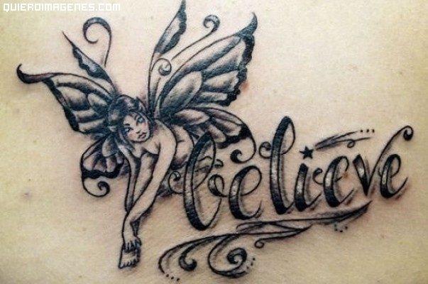 Tatuaje de hada con mensaje imágenes