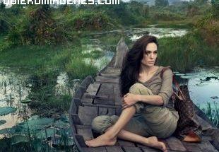 Espectacular paisaje con Angelina Jolie imágenes