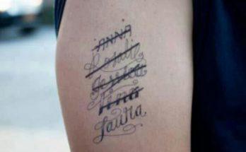 Tatuajes con los nombres de las exnovias imágenes