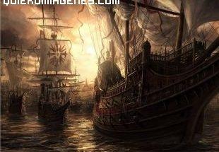 Barcos corsarios llegan en la ncohe imágenes