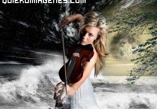 Bella violinista imágenes
