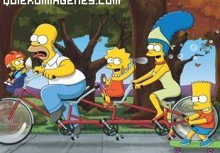 Los Simpsons en bicicleta imágenes