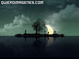 Imagen a la luz de la luna imágenes