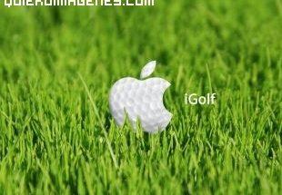 Logotipo de Apple en el golf imágenes