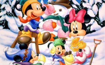 Mickey y Minnie en la nieve imágenes