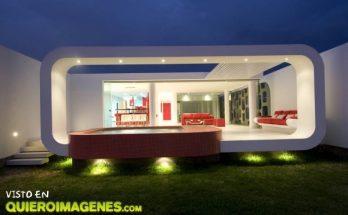 Moderna casa de playa imágenes