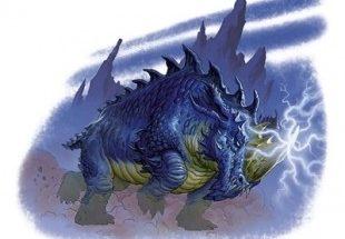 Monstruo azul con cuernos imágenes