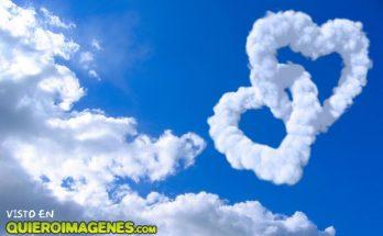 Nubes con forma de corazón imágenes
