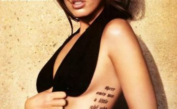 Tatuaje con mensaje de Megan Fox imágenes