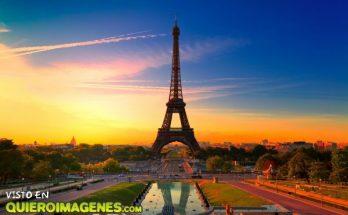 Torre Eiffel al atardecer imágenes