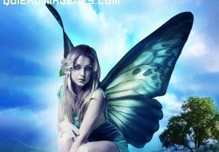 Chica con alas de mariposa imágenes
